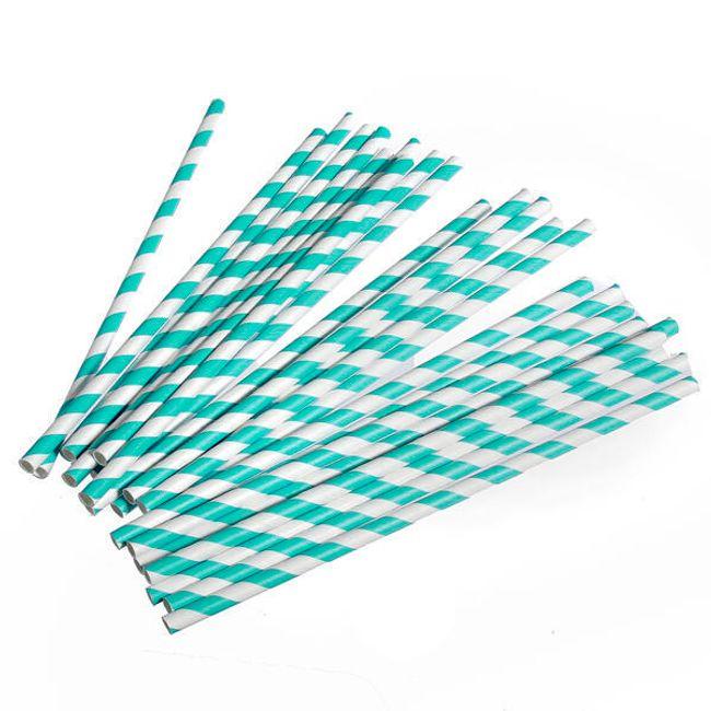Papír szívószál 25 db, 10 színben 1