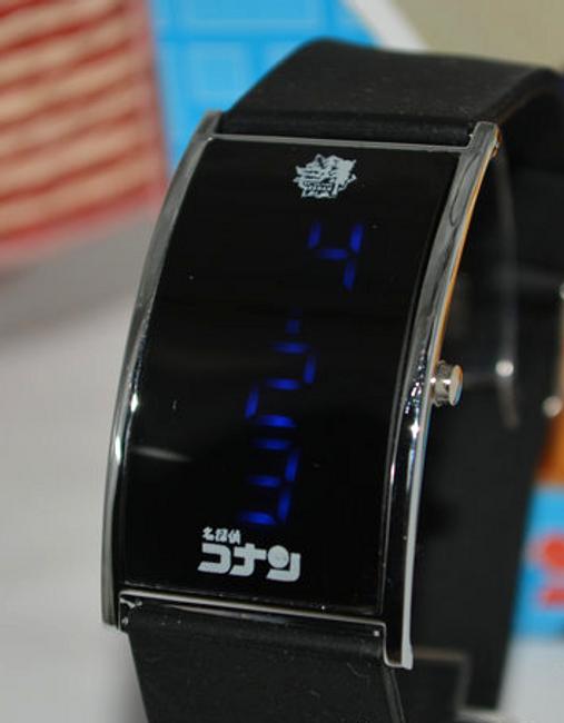 Pánské náramkové LED hodinky v černé barvě  1