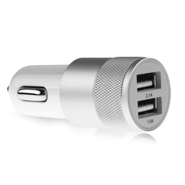 Dvojni avtomobilski USB polnilnik  - 2,1 A. 1