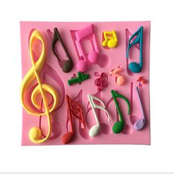 Silikonski kalup sa muzičkim motivima