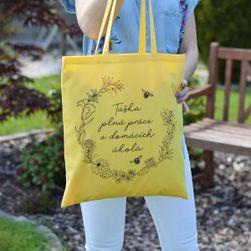 Памучна чанта-чанта, пълна с домашна работа SR_DS10467353