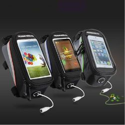Чанта за велосипеди с джоб за мобилен телефон и отвор за слушалки