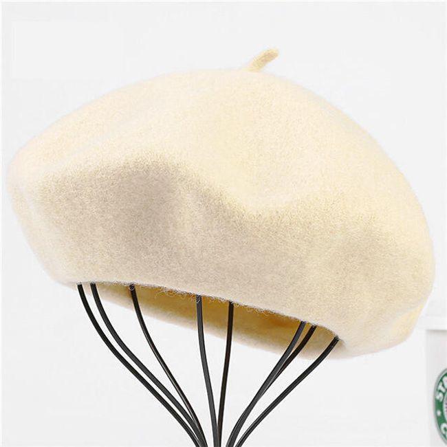 Elegantní francouzský baret - Béžová 1