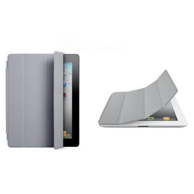 Magnetický chytrý kryt pro iPad 2 - šedý 1