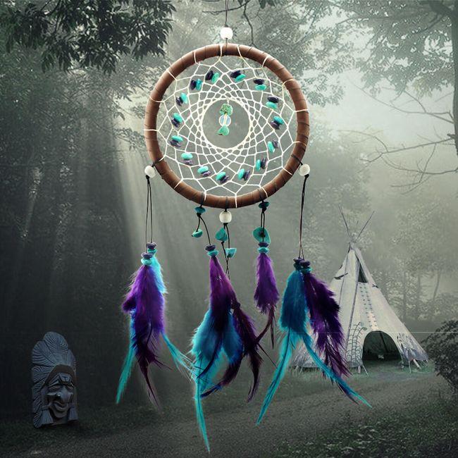Barevný lapač snů - 43 cm 1