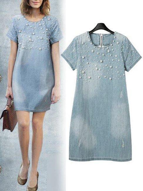 Dámské letní džínové šaty - 8 1