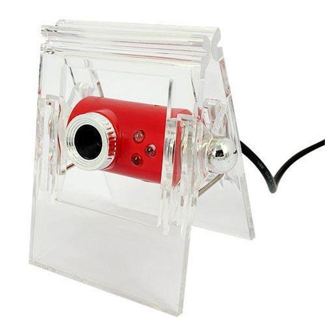 Webkamera s klipem pro připevnění na monitor - červenočirá 1