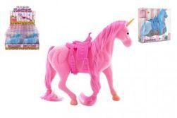 Jednorožec kôň flíska so sedlom 21cm 3 farby v krabičke 16x17x5,5cm RM_00850377