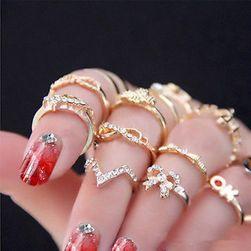 Arany színű gyűrű készlet 7 darabban