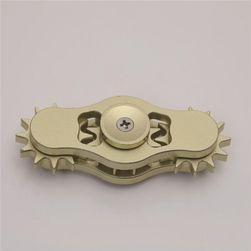 Prosty fidget spinner z kołami zębatymi - 2 kolory