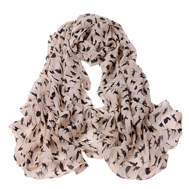 Šátek s kočkami 1