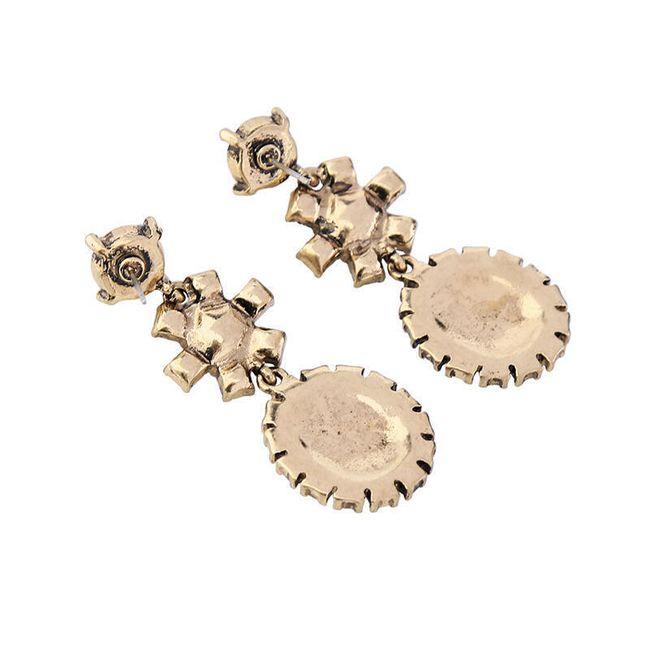 Dámské náušnice - kamínky a perly 1