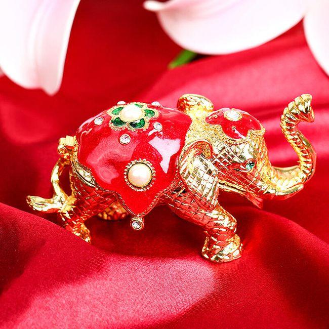 Figurka slona s úložným prostorem 1