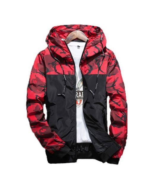 Pánská maskáčová bunda - Červená_velikost č. 8 1