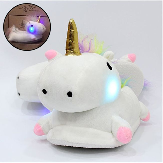 LED papucs - egyszarvú