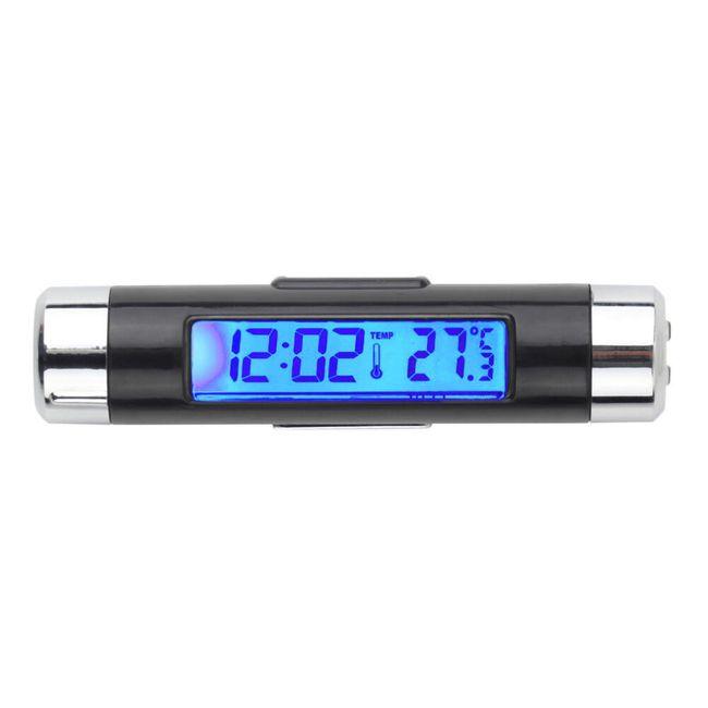 Araç termometreyi içeren LCD saat 1