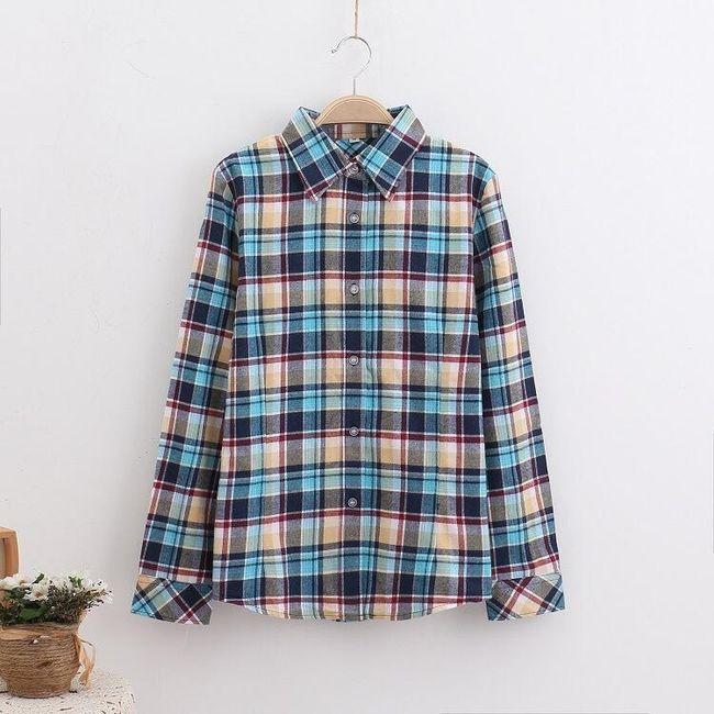 Női kockás ing  hosszú ujjú - 20 színváltozat