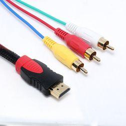 HDMI / 3x RCA адаптер - 1,5 м, кабель 1,5 м