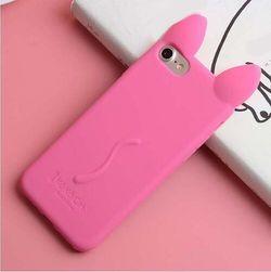 Aranyos mobiltelefon tok iPhone macska füleivel - több szín