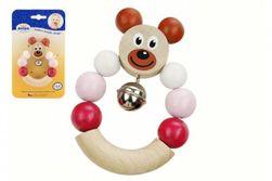 Jucărie bebeluși, ursuleț roz din lemn RM_33014208