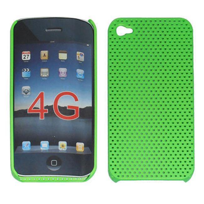 Plastový ochranný kryt na iPhone 4 a 4S - zelený motiv 1