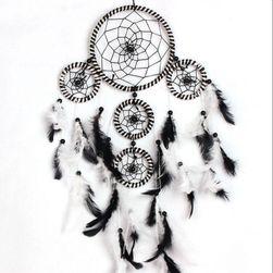 Talisman de vise (dreamcatcher) de culoare neagră