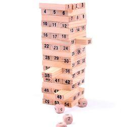 Dřevěná dominová stavebnice