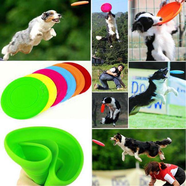 Latające silikonowe frisbee dla psów 1