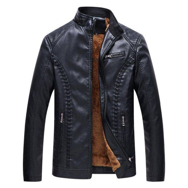 Pánská zimní koženková bunda Howard 1