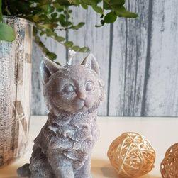 Sveća sive boje - mačka