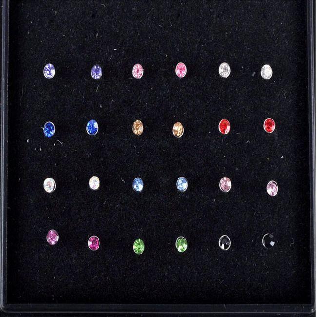 24 barvnih piercingov za nos 1