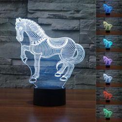 LED lampica sa 3D efektom - oblik konja