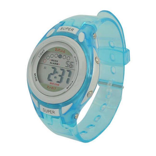 Dětské silikonové hodinky - modré 1