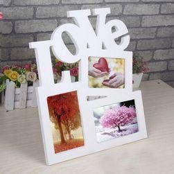 Rámeček na fotky s nápisem LOVE