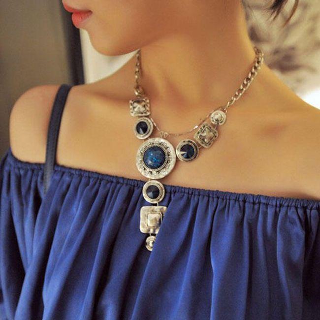 Niebieski naszyjnik w stylu antycznym 1