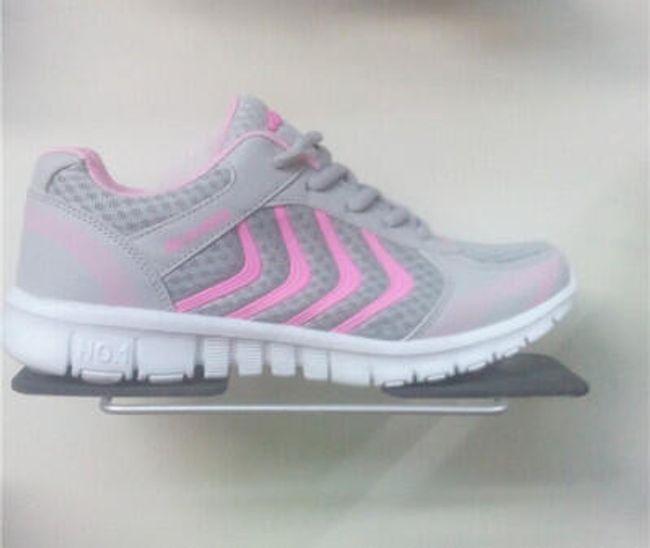 Dámské sportovní botasky - Světle šedá s růžovou - 25,1 cm (vel. 39) 1