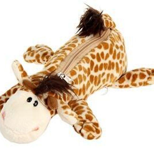 Penál do školy - plyšová žirafa 1
