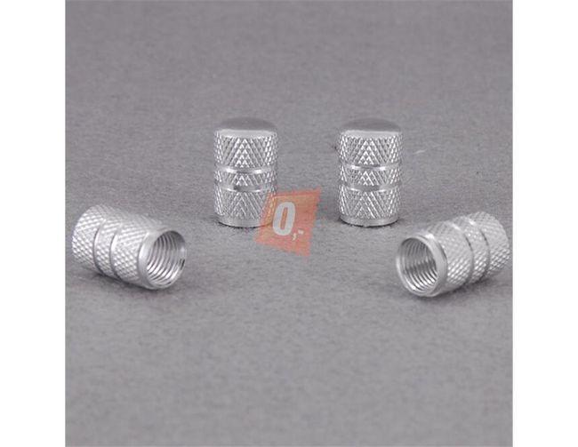 Ozdobné čepičky ventilků 4ks - stříbrné 1
