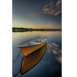 Keret nélküli festmény 40 x 30 cm - Csónak a tónál