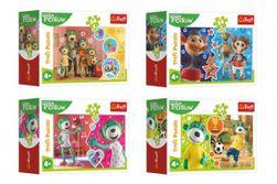 Minipuzzle 54 dílků Veselý svět Trefliků/Treflíci 4 druhy v krabičce 9x6,5x4cm 40ks v boxu RM_89154181