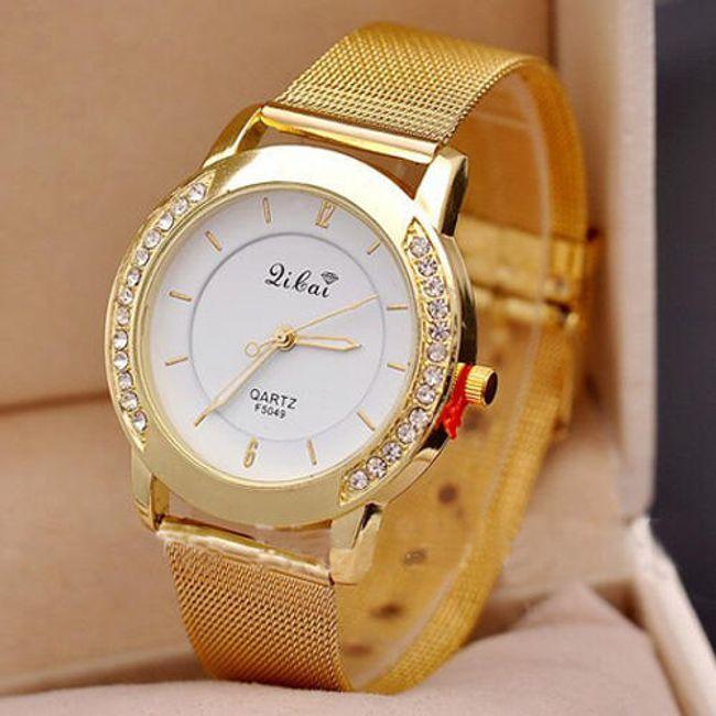 Ženski sat sa kamenčićima sa strane brojčanika 1