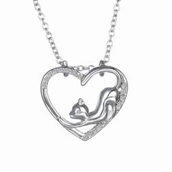 Náhrdelník s přívěskem kočičího srdce