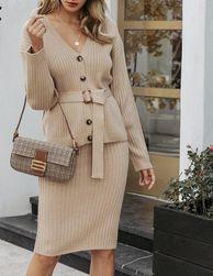 Ženska pletena haljina DPS47