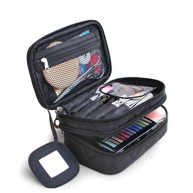 Dvoupatrová kosmetická taštička - 4 barvy 1