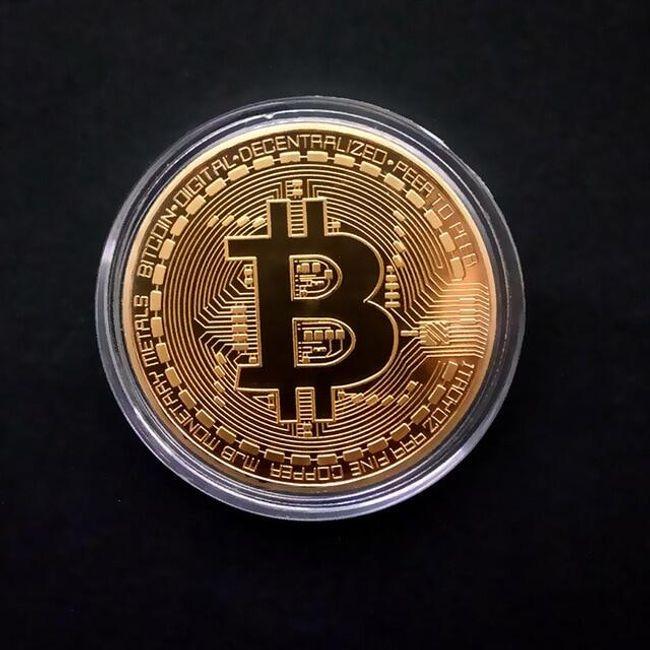 Dekorační mince se znakem Bitcoinu V52 1