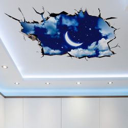 3D samolepka na strop či podlahu - Noční obloha