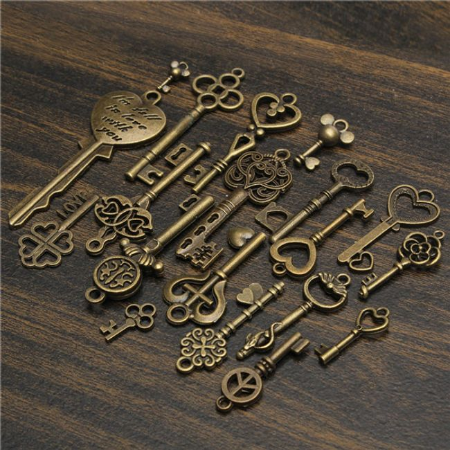 19 kulcstartó medál készlet 1