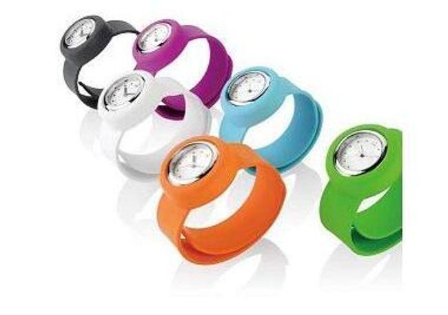 Silikonové hodinky SLAP-ON - analogové, 7 barev 1