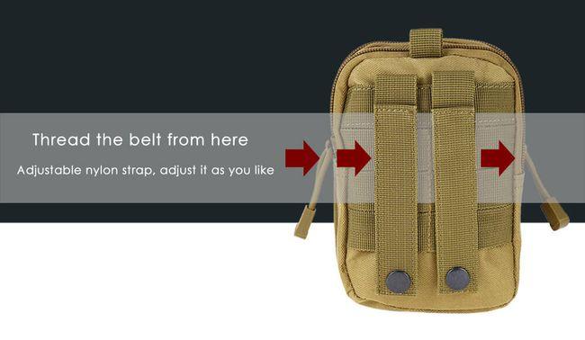 Taktikai kültéri táska okostelefonhoz - 8 változat