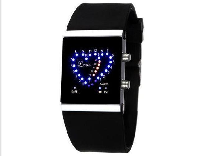 Silikonové LED hodinky dámské - 4 barvy 1
